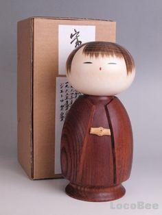 Japanese Sousaku Kokeshi Doll by Watanabe Masao / Kantsubaki