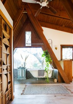 Carved Out - This Hollywood Hills A-Frame Home Is Magical - Photos