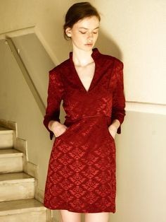 Samantha Sotos - womenswear ready to wear collection. Fall Winter, Autumn, Winter Fashion, Ready To Wear, Wrap Dress, Women Wear, Dresses With Sleeves, Long Sleeve, How To Wear