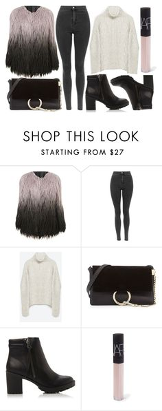 """street style"" by sisaez ❤ liked on Polyvore featuring Zara, Chloé, Steve Madden, NARS Cosmetics, women's clothing, women's fashion, women, female, woman and misses"