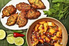 Spicy corn pakoras with mango-tamarind chutney. Photo: Fred R. Conrad/The New York Times