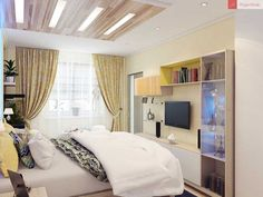 Современный дизайн маленькой спальни   Оформление интерьера небольшой спальной комнаты   Ремонт квартиры