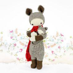 Crochet Pattern Doll KIRA the kangaroo PDF van lalylala op Etsy