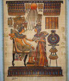 Antrophistoria los antiguos egipcios vest an de una for Mural egipcio
