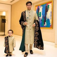 The latest dress trends for the latest new fashion trends, outfit ideas, celebrity style, designer news and runway looks. Sherwani For Men Wedding, Wedding Dresses Men Indian, Groom Wedding Dress, Groom Dress, Indian Dresses, Indian Outfits, Sherwani Groom, Bride Groom, Men's Wedding Wear