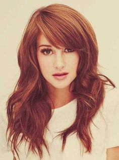15.Long Layered Hairstyle This cut with her long side  bangs