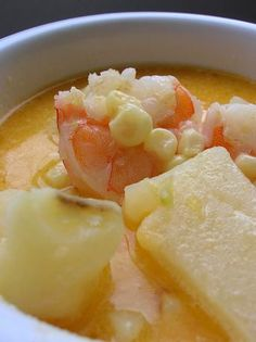 Grilled Corn and Shrimp Chowder...