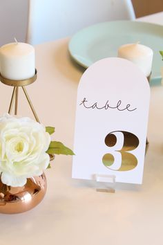 You don't want to miss these ADORABLE DIY Modern Foiled Table Numbers! Wedding Scene, Diy Wedding, Seating Cards, Table Cards, Table Numbers, Just Giving, Wedding Trends, Getting Old, Diy Tutorial