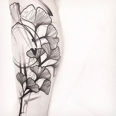 Awesome Ginkgo design. BY FRIEND AND GUEST ARTISTS FRANK [ @frankcarrilho ]