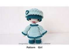 cottonflake Pattern Girl , miniature doll amigurumi crochet Ask a Question $5.79