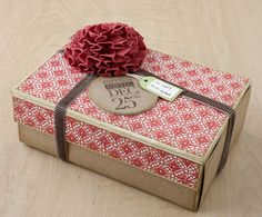 How to mix and match stamps and papers to create custom gift wrap patterns. #CTMH