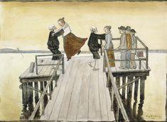 Tanssi sillalla | Hugo Simbergin toinen maailma. Tanssi sillalla, 1899 Ateneum