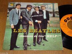 """French 45t EP (7"""") LES BEATLES chanson du film """"Help"""" / SOE 3771 (BIEM - 1965)"""