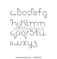 Vector linear font – simple alphabet in mono line style. Vector linear font – simple alphabet in mono line style. Bullet Journal Font, Journal Fonts, Bullet Journal Ideas Pages, Handwriting Alphabet, Hand Lettering Alphabet, Alphabet Letters, Lettering Tutorial, Lettering Design, Pretty Fonts Alphabet
