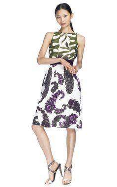 Shop Giambattista Valli Combination Grosgrain Ribbon Belt Dress at Moda Operandi