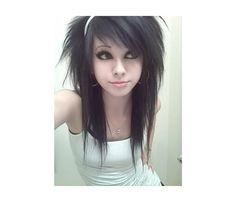 Super cute! Want that hair...LOL and that face! Emo girl hair