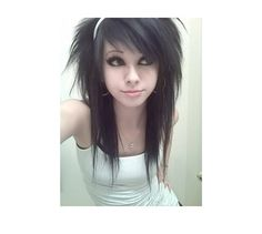 Super cute! Want that hair...LOL and that face! Emo girl hair