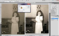 step by step tutorial on how to restore and update old photographs in Photoshop