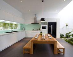 wohnideen für küche glasrückwand glanzvoll farben leuchtend ... - Küche Spritzschutz Kunststoff