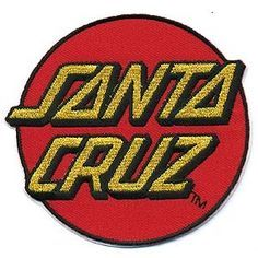 Bag Patches, Cool Patches, Pin And Patches, Santa Cruz Logo, Dot Logo, Hand Logo, Morale Patch, Vintage Fonts, Screen Printing