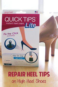 QUICK TIPS High Heel Caps - Easy repair for damaged heels! gogoheel.com