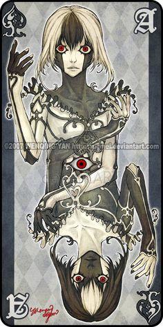 Augen Auf: Ace of Spades by yuumei.deviantart.com on @deviantART