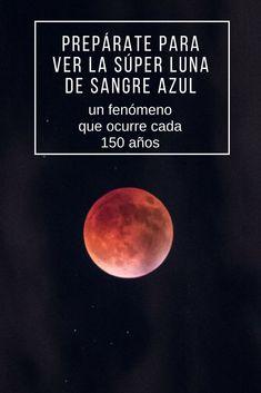 La Superluna de Sangre Azul es un fenómeno que ocurre cada 150 años. Este enero se podrá ver principalmente en América del Norte. Para que se de una de estas lunas es necesario que se unan tres eventos astronómicos: eclipse total lunar, dos lunas llenas en un mes y el acercamiento de la luna a la Tierra gracias a su órbita elíptica. Disfruta de esta experiencia única.