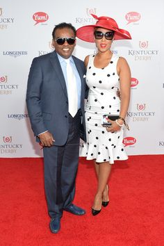 Ron & Kandy Johnson Isley attend the 140th Kentucky Derby