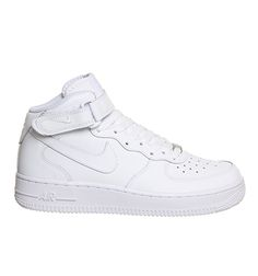 Buy White Nike Air Force 1 Mid  from OFFICE.co.uk.