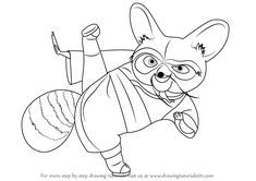 Learn How to Draw Shifu Master from Kung Fu Panda (Kung Fu Panda) Step by Step : Drawing Tutorials