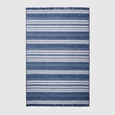 "Global Stripe Blue Outdoor Rug - 30""x50"" - Threshold™ : Target"