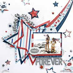 Stars and stripes scrapbooking process video