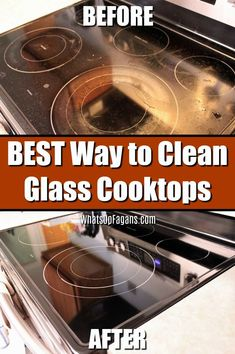 Want to know the best way of how to clean a glass cooktop? Then you're in luck! This glass cooktop cleaner is the best thing for a clean glass cooktop with minimal effort! Your clean glass cooktop will sparkle and look brand new when you're done. Deep Cleaning Tips, House Cleaning Tips, Cleaning Solutions, Spring Cleaning, Cleaning Hacks, Diy Hacks, Cleaning Recipes, Best Cleaning Products, Bath Products