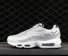 the latest 22e8c 7a69a Nike Air Max 95 QS Metallic Silver Varsity Red-White-Black For Sale