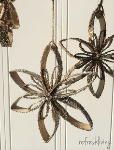 Upcycled Toilet Paper Tube Snowflake Ornaments