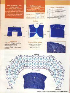 Bolero in blue - 2 - pattern a