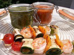 la valigia sul letto: salsa di peperoni e salsa di zucchine