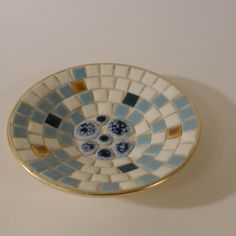 we had several of these all over the house!     60s Mosaic Dish