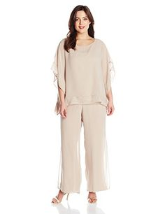 aeecfb979a7 Le Bos Women s Plus-Size Glitter Pant Set