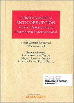 Compliance & anticorrupción : visión práctica de la normativa internacional Aranzadi, 2020 Nova, Personalized Items, Sheriff, Law