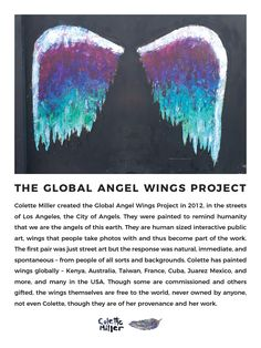The Global Angel Wings Project created in 2012 to remind humanity that we are the Angels of this Earth Coachella, Angel Wings Painting, 8th Grade Art, Sidewalk Chalk Art, Art Courses, Soul Art, Latte Art, Street Artists, American Artists