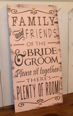 wedding seating don't pick a side - Google Search