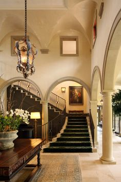 Beautiful foyer by Carmel Valley Estate. Evens Architects. interior design ideas and home decor