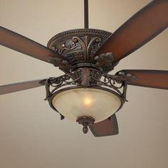 """60"""" Casa Montego Scavo Glass Light Ceiling Fan - #56358-58978-U0088   LampsPlus.com great room"""