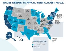 Here's What You Need to Make Hourly to Afford a 2-Bedroom Rental in Every State