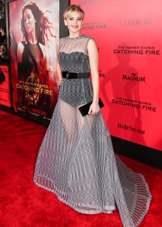 Jennifer Lawrence's @Dior gown at last night's Catching Fire premiere made our jaws drop!