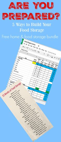 Free food storage calculator spreadsheet Survival Tips