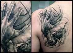 amazing basketball tattoos, back