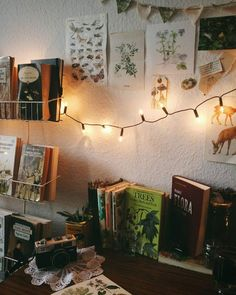 Fairy lights + Books // Shop 100% Bamboo Eco-friendly Bedding & Apparel xx www.yohome.com.au