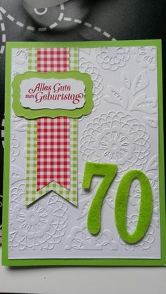 Geburtstagskarte 70